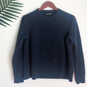 Banana Republic Italian Yarn Navy Blue Sweater XL